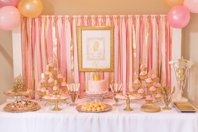 Pink And Gold Princess Party Details
