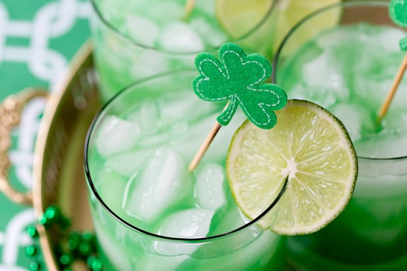 St. Patrick's Day Cocktail - The Shamrock Sour | Pizzazzerie.com