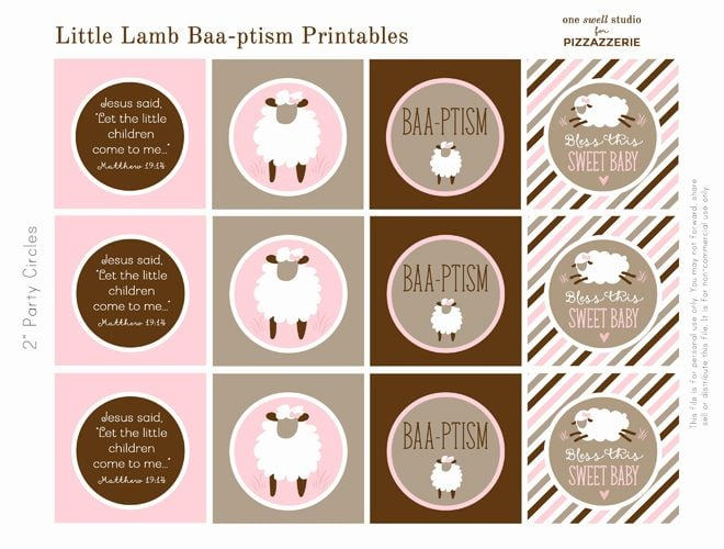 "Sweet Little ""Baa-ptism"" Lamb Printables"