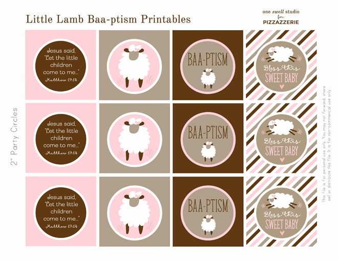 Free Lamb Baptism Printables