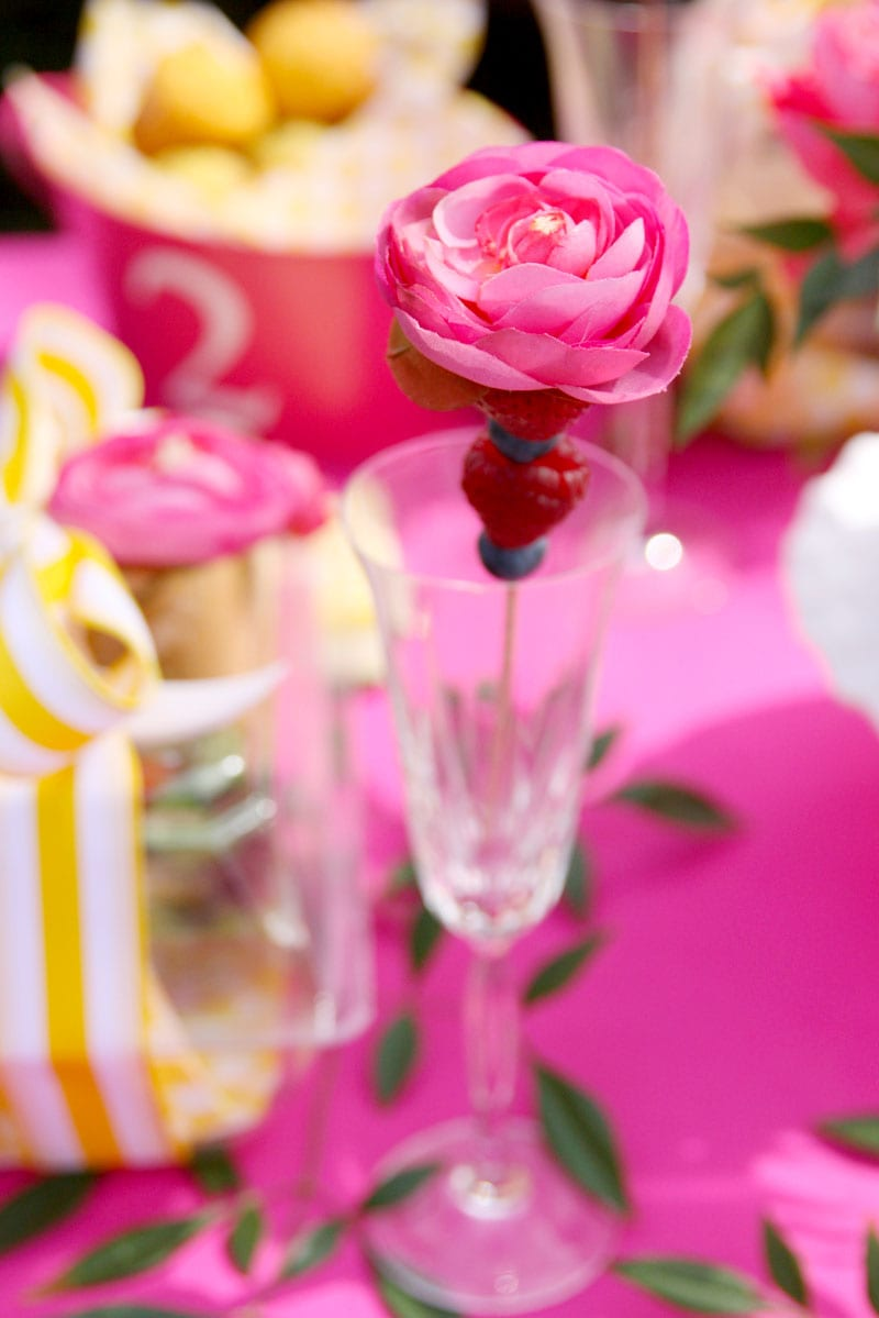 Pink Yellow Tablescape Pizzazzerie