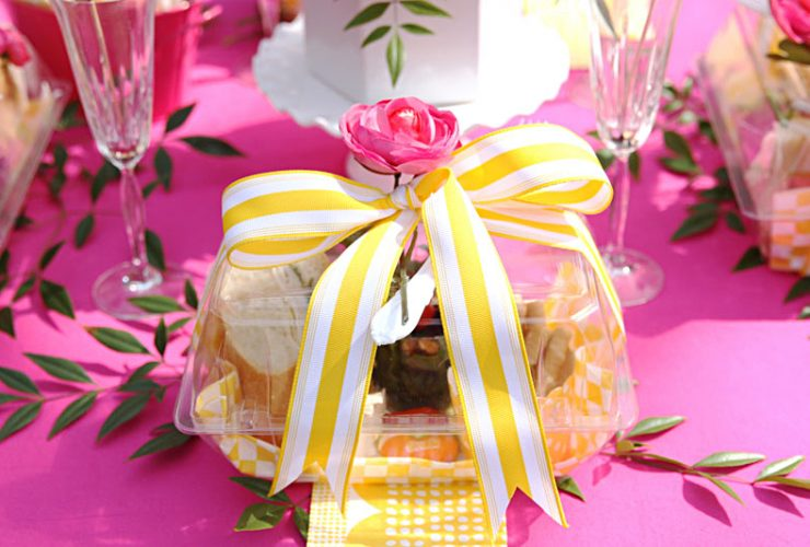 Pink + Yellow Tablescape