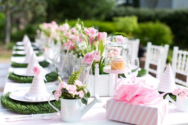 Blakely's Pink & White Garden 1st Birthday Party