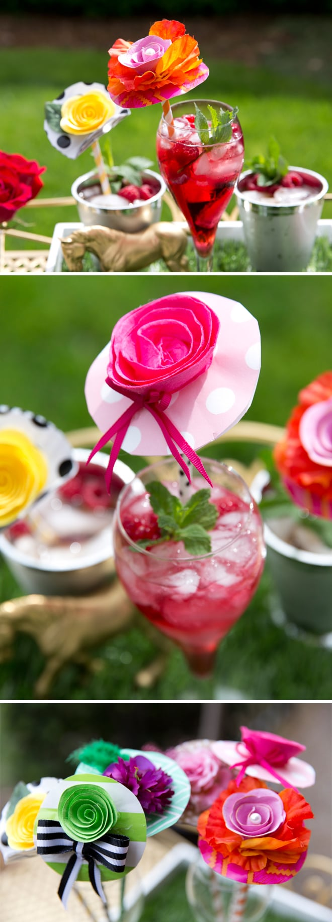 Whimsical DIY Hat Drink Stirrers for the Kentucky Derby | Pizzazzerie.com