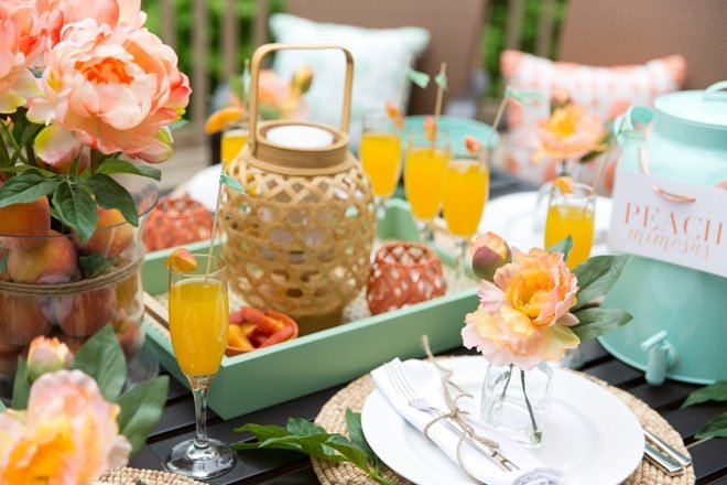 """Peach & Mint"" Brunch Party"