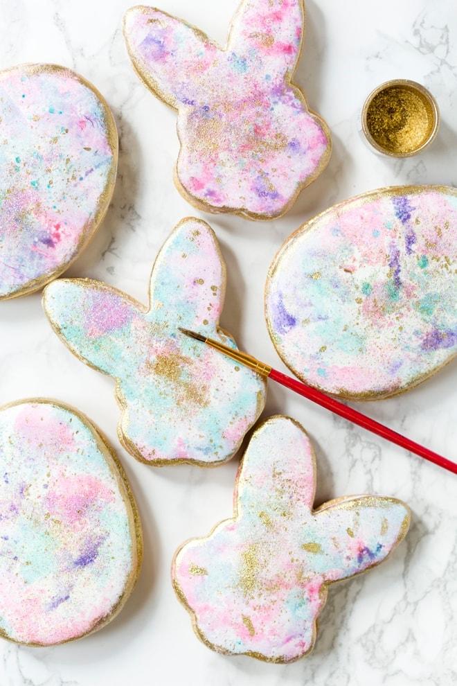 Watercolor Graffiti Easter Cookies