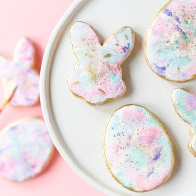 Watercolor Graffiti Easter Cookies
