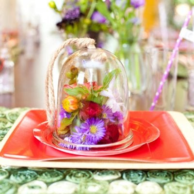 fairy unicorn birthday party table setting