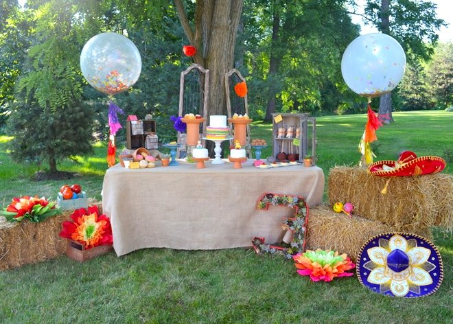 Fiesta Twins Birthday Party, tons of ideas and inspiration! Pizzazzerie.com