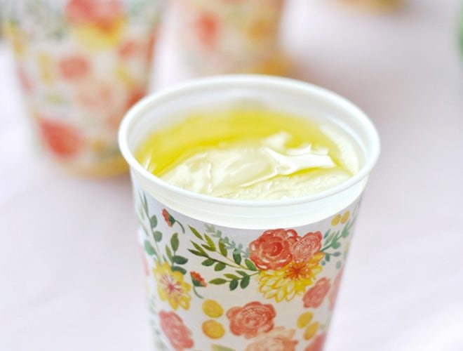 Free Printable Spring Cup Wrappers, line cups with the wrapper for a fun DIY!