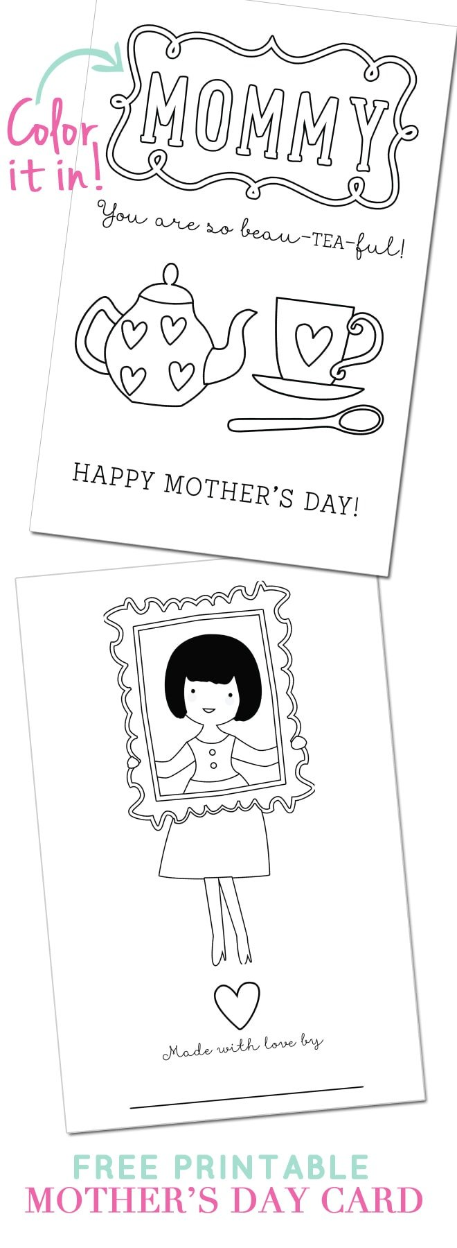 free printable mother 39 s day card pizzazzerie. Black Bedroom Furniture Sets. Home Design Ideas