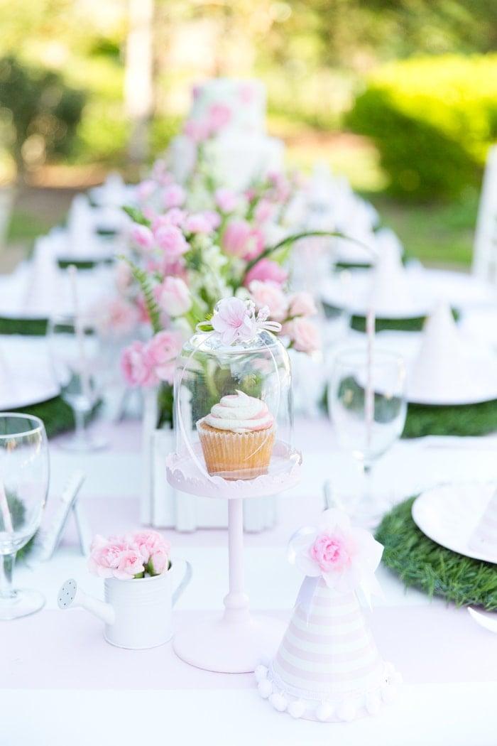 Blakelys Pink White Garden 1st Birthday Party Pizzazzerie