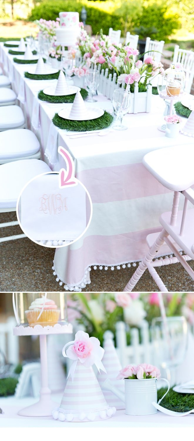 Blakely S Pink Amp White Garden 1st Birthday Party Pizzazzerie