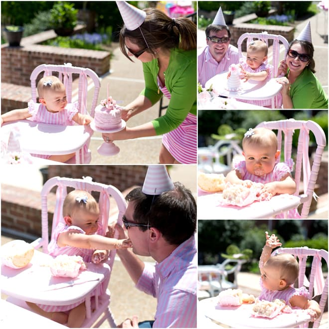 Blakely's Pink and White Garden 1st Birthday Party, Pizzazzerie.com