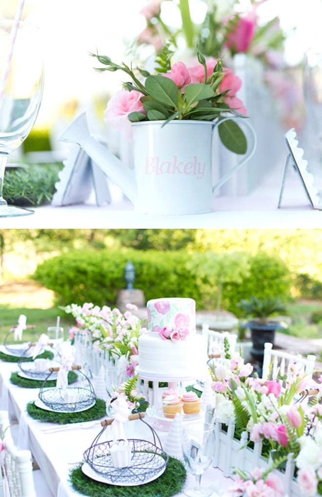 Blakely\'s Pink & White Garden 1st Birthday Party | Pizzazzerie