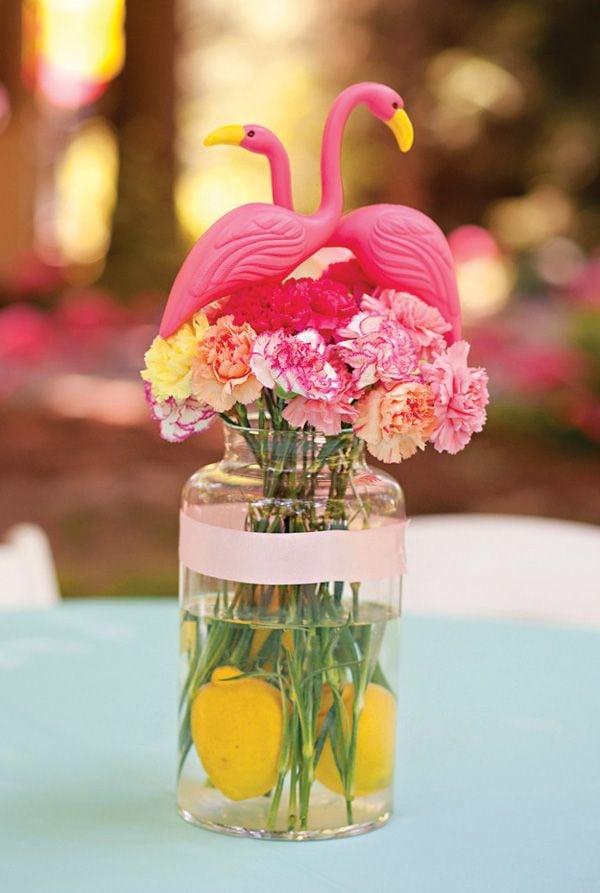 Cute Flamingo Centerpiece Idea