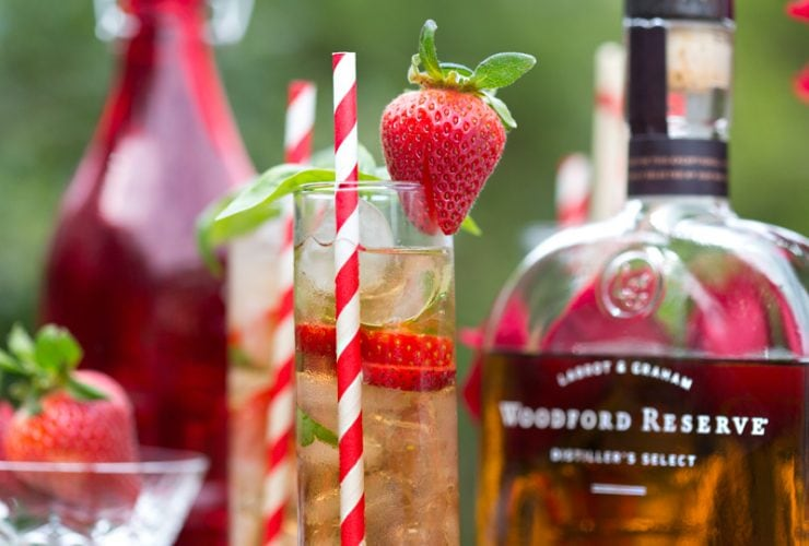 Strawberry Basil Juleps for the Kentucky Derby!