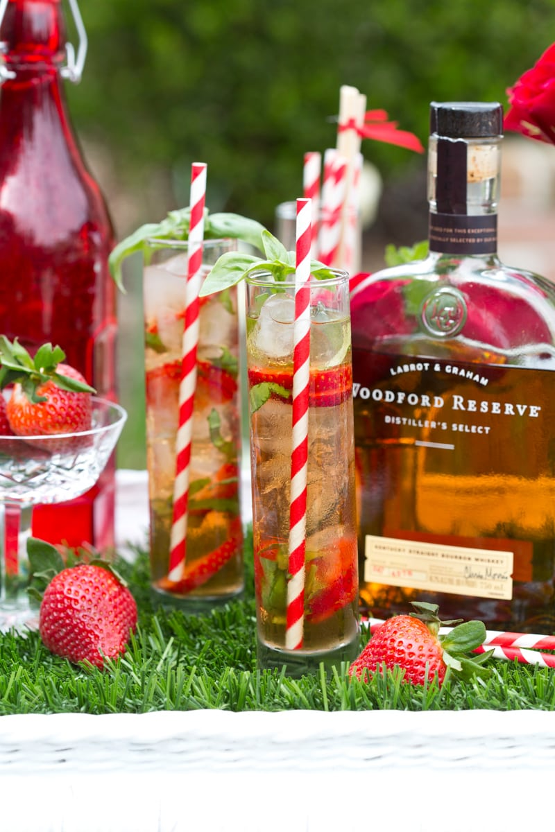 Strawberry Basil Juleps for the Kentucky Derby! Pizzazzerie.com