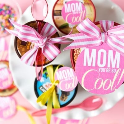 "Mother's Day Free Printable: You're so ""Cool"" Gift Tag, ice cream treat!"