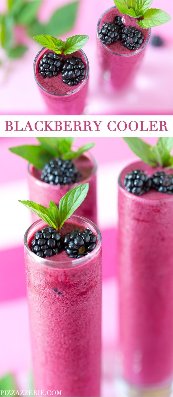 Frozen Blackberry Cooler Recipe - SO refreshing!