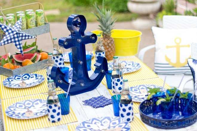 Nautical Backyard Summer Dinner Party