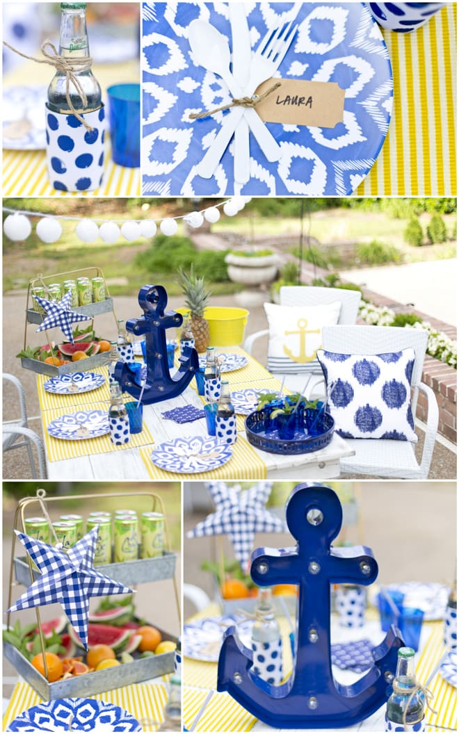 Throw a summer dinner party! Nautical party style, EVERYTHING you need from Target!