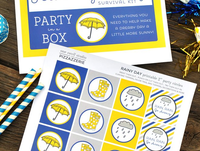 Rainy Day Party in a Box {Free Printables}