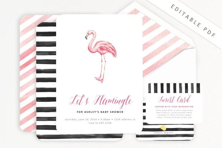 "Let's ""Flamingle"" Party Invitation"