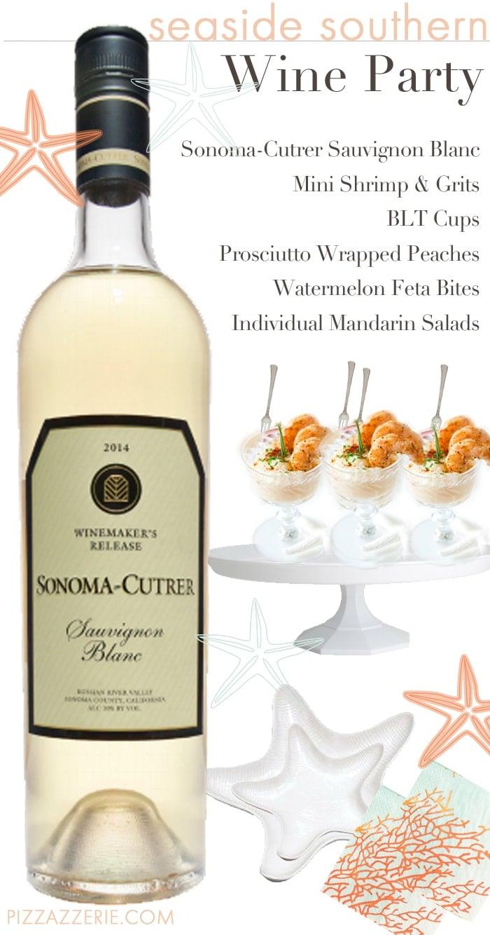 Wine Party Prep & Mini Shrimp + Grits Appetizer!   Pizzazzerie