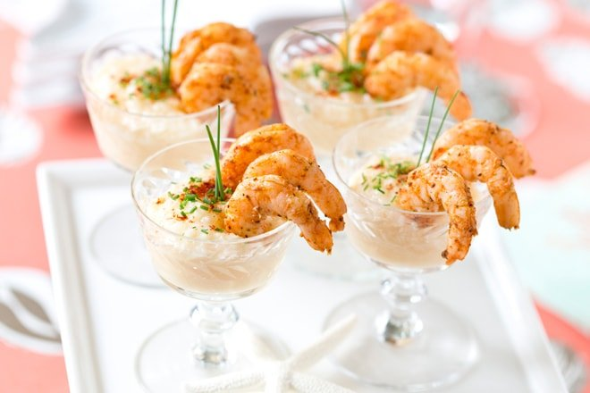 Wine Party Prep & Mini Shrimp + Grits Appetizer!