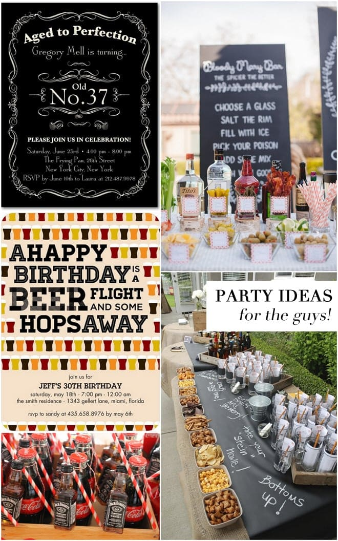 Adult Birthday Party Ideas For The Guys