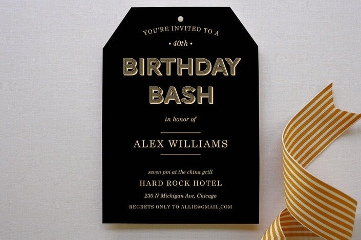 Guys Adult Birthday Party Ideas Wood Grain Invitation