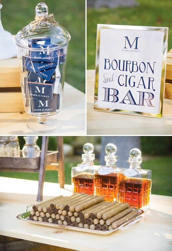 Guys Party Idea Bourbon And Cigar Bar