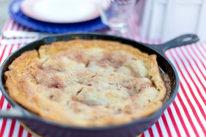 Cast Iron Apple Pie, out of this world good!