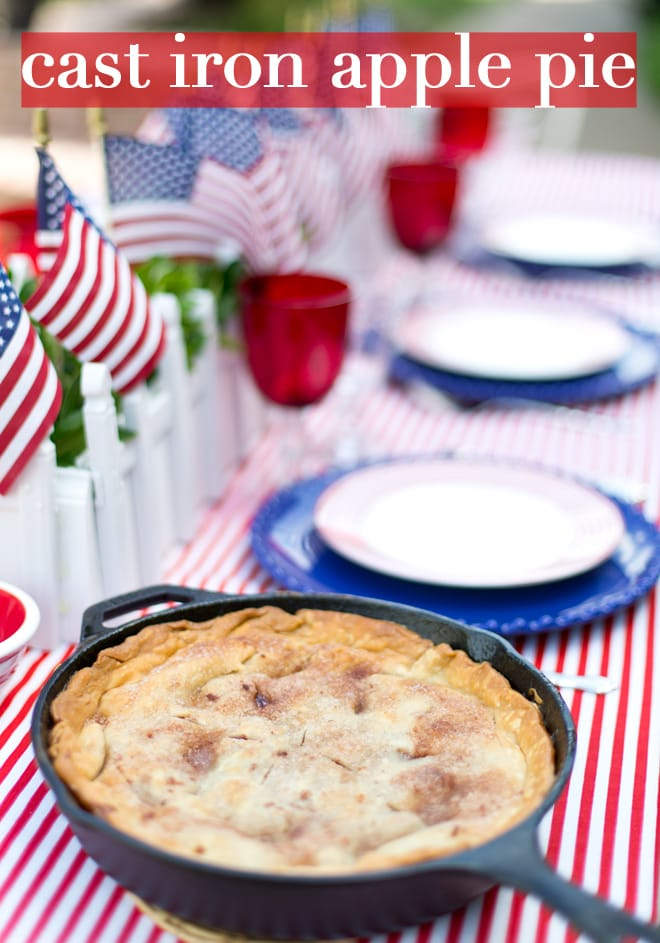Cast Iron Apple Pie Recipe! So good for July 4th! Pizzazzerie.com