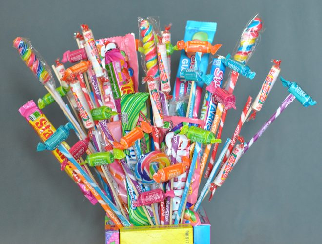 How to Make a Cute Candy Bouquet