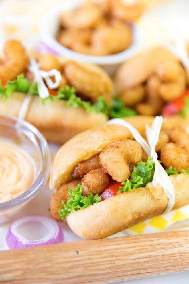 Mini Spicy Shrimp Po' Boys!