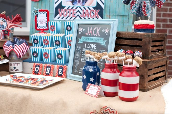Red, White & Blue: Patriotic First Birthday Party!