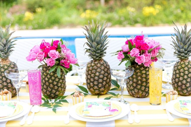 Tropical Girl's Game Night Party {Free Printable}
