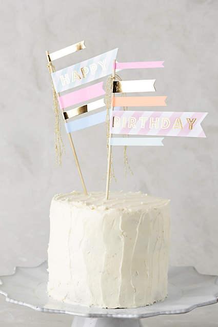 Birthday Cake Flags