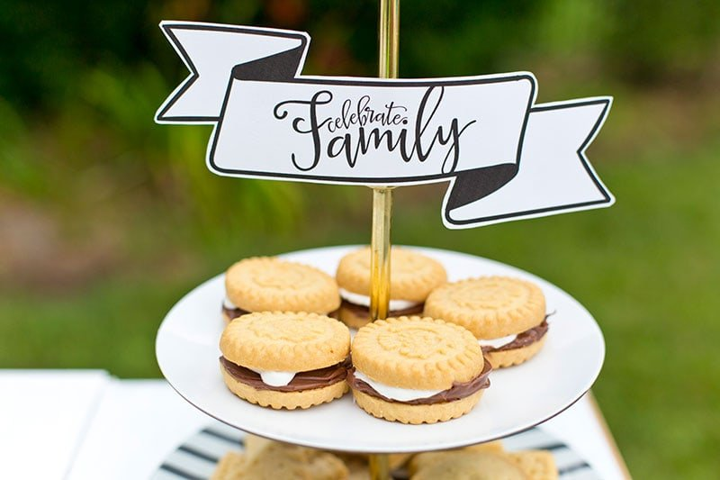 Shortbread S'mores for a Family Celebration