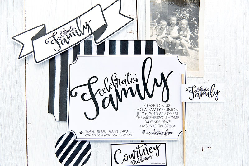 How To Host A Stylish Family Reunion Pizzazzerie .  Free Printable Family Reunion Templates