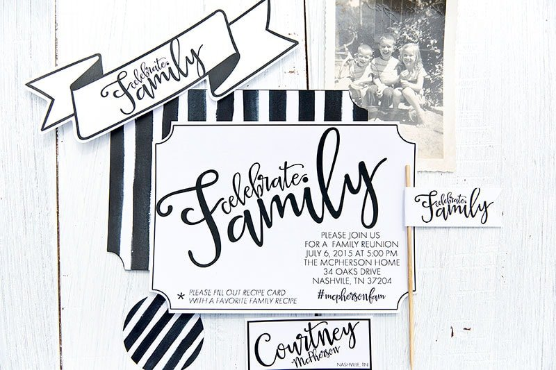 Free printables for a stylish and sophisticated family reunion!