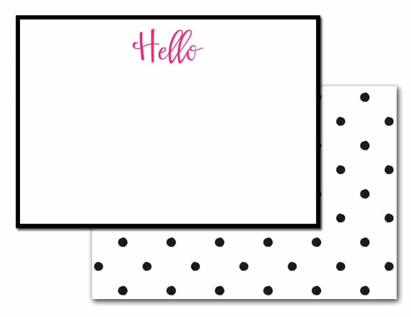 Effortless image throughout printable note card