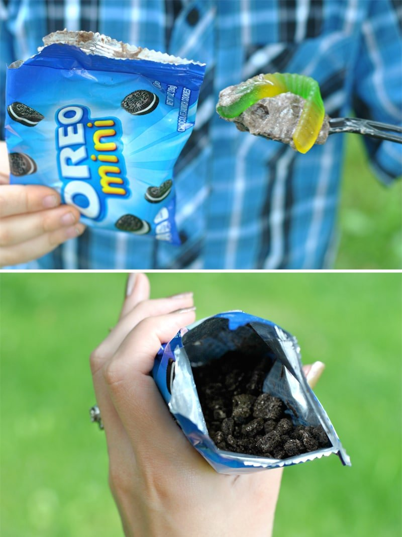 """How to Make Oreo """"Dirt Pudding"""" Treats, Less Mess Style! Pizzazzerie.com"""