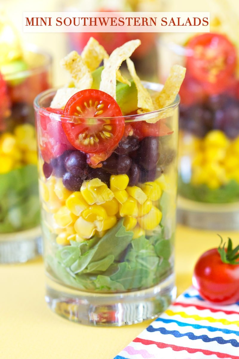 Mini Layered Southwestern Salads! Serve this at your next party!