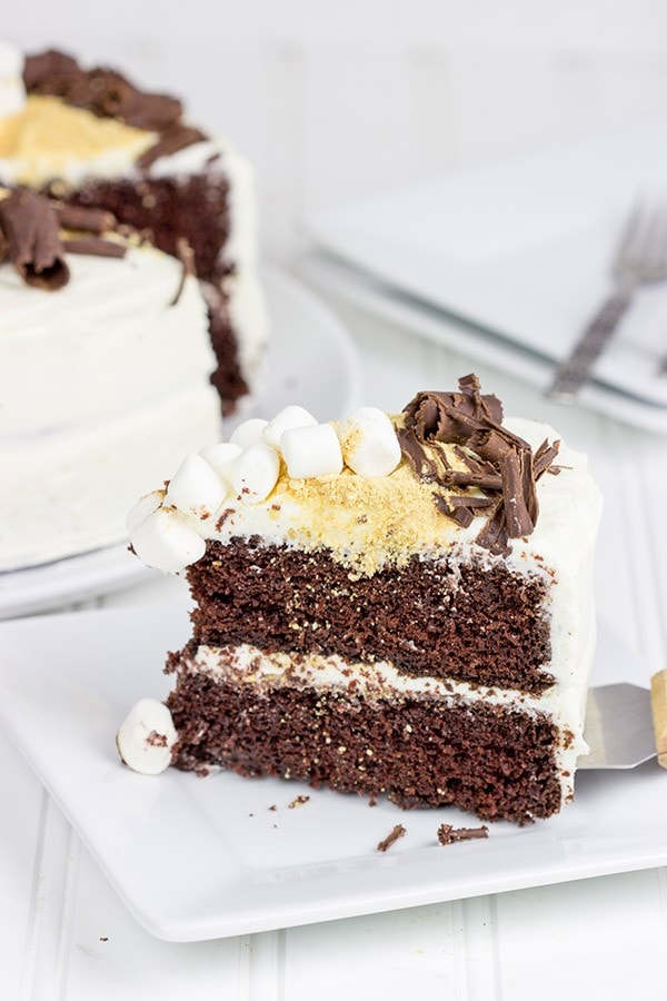 S'mores Chocolate Marshmallow Cake!