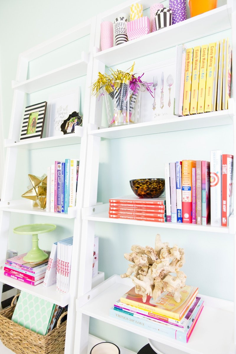 Shelf Styling in Dream Home Office