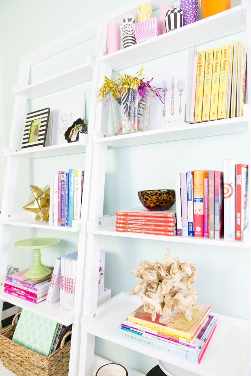 Shelf Styling in Dream Home Office