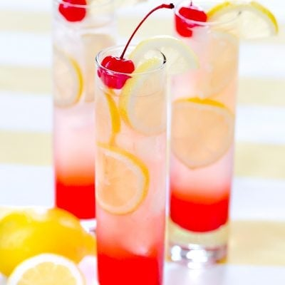 Refreshing Cherry Lemonade, my go to recipe! Pizzazzerie.com